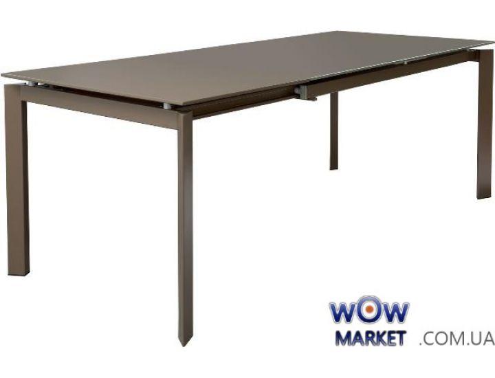 Стол раскладной Gloss Moka Glass 1400(+600)*900*760мм (мока глянец)