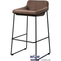 Барный стул из ткани Comfy (Комфи) пепельно-коричневый