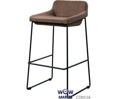 Барный стул из ткани Comfy (Комфи) коричневый