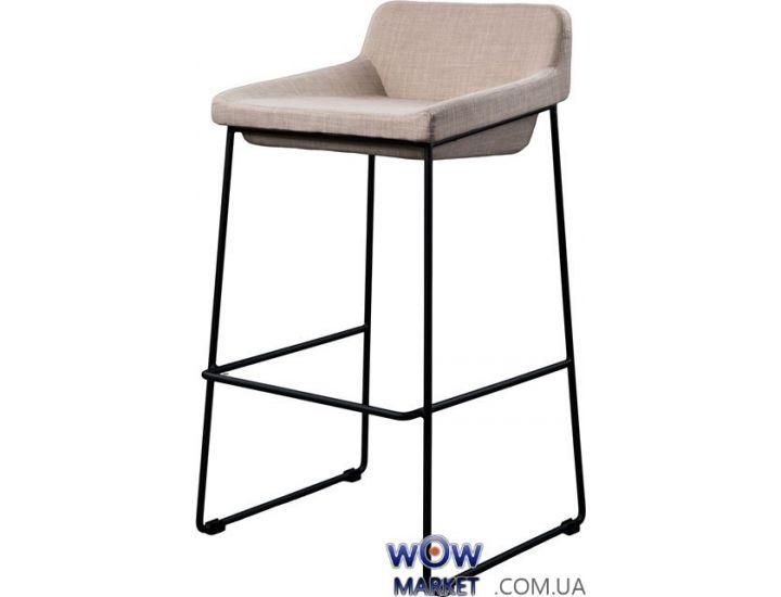 Барный стул из ткани Comfy (Комфи) светло-серый