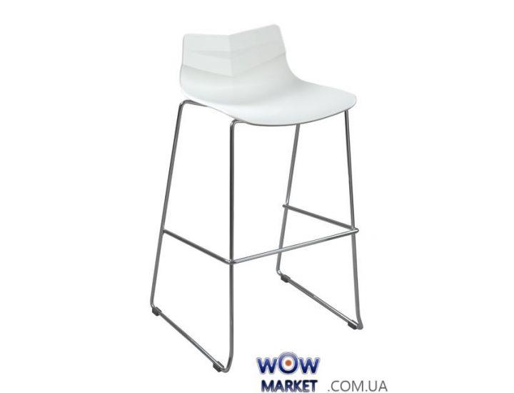 Барный пластиковый стул Leaf (Лиф) белый