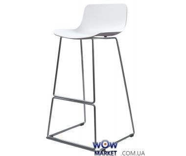 Барный стул пластиковый Petal (Петал) белый