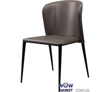 Кожаный стул Arthur (артур) пепельно-серый