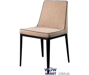 Мягкий стул из ткани Gentelman (Джентельмен) пепельно-бежевый