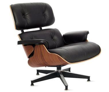 Кресло Eames lounge chair черное