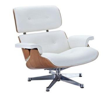 Кресло Eames lounge chair белое