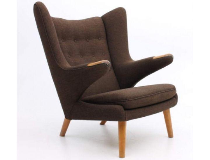 Дизайнерское лаунж кресло Papa Bear (Папа бир) темно-коричневый