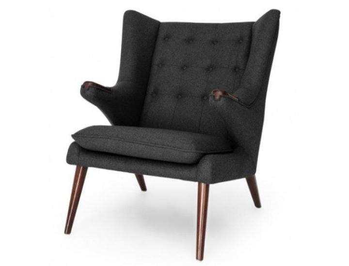 Дизайнерское лаунж кресло Papa Bear (Папа бир) темно-серый