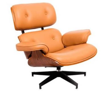 Кресло Eames lounge chair бежевое
