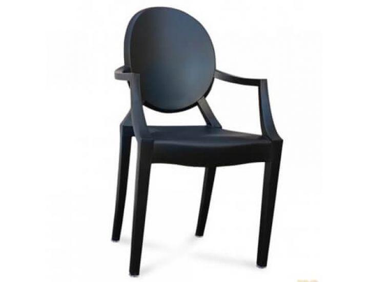 Дизайнерский стул Louis Ghost (Луис Гост) черный матовый