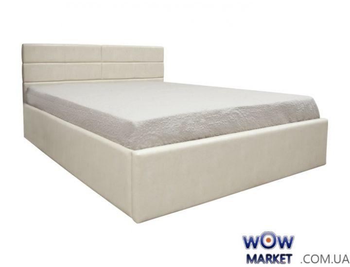 Кровать двуспальная Джустина с подьемным механизмом 160х200см (беж-карамельный, браун) Domini (Домини)