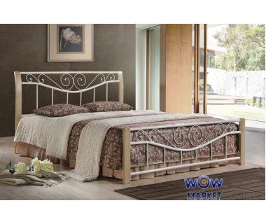 Кровать двуспальная Ленора М 180*200см ДЛ (крем) Domini (Домини)