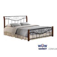 Кровать двуспальная Ленора М 180*200см ДЛ (каштан) Domini (Домини)