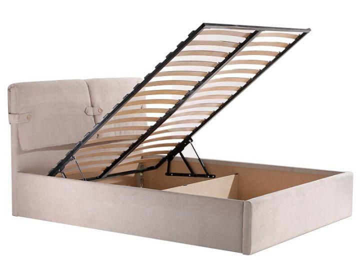 Кровать двуспальная Феллини с подьемным механизмом 160х200см (мисти беж) Domini (Домини)