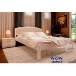 Кровать двуспальная Британия М с мягким изголовьем 160х200 (190) см ДревКомбинат