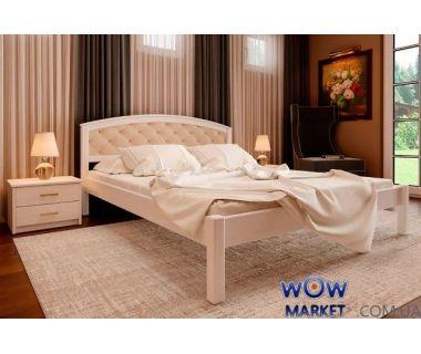 Кровать двуспальная Британия М с мягким изголовьем 180х200 (190) см ДревКомбинат