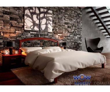 Кровать двуспальная Британия с ковкой 160х200 (190) см ДревКомбинат