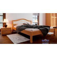 Кровать полуторная Италия М с мягким изголовьем 140х200см ДревКомбинат