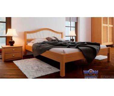 Кровать двуспальная Италия М с мягким изголовьем 180х200 (190) см ДревКомбинат
