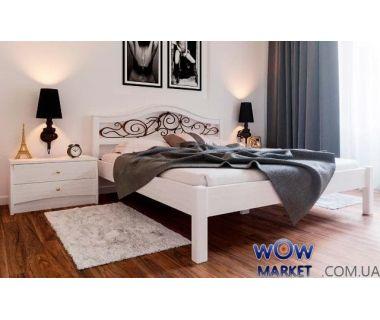 Кровать двуспальная Италия К с ковкой 160х200 (190) см ДревКомбинат