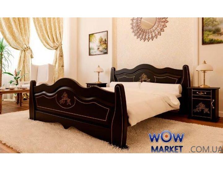 Кровать деревянная двуспальная Мальва 180х200см ДревКомбинат