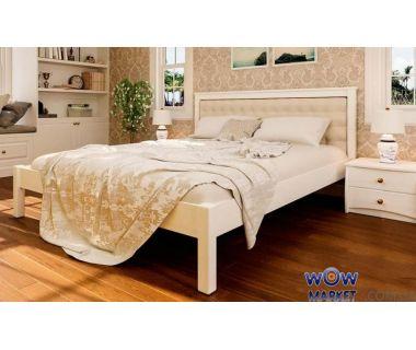 Кровать двуспальная Модерн М с мягким изголовьем 160х200 (190) см ДревКомбинат