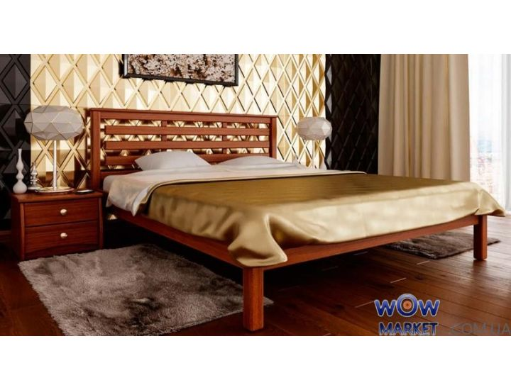 Кровать деревянная полуторная Модерн 140х200см ДревКомбинат