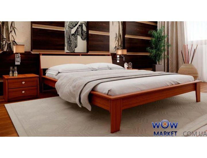 Кровать полуторная Венеция М с мягким изголовьем 140х200 (190) см ДревКомбинат