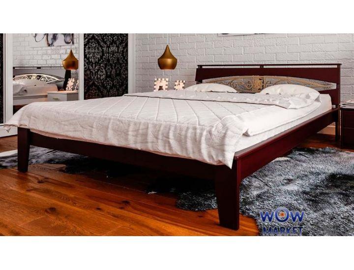 Кровать деревянная двуспальная Венеция К с ковкой 160х200см ДревКомбинат