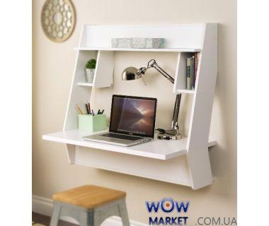 Навесной компьютерный стол ZEUS (Зевс) AirTable-III (белый) Escado (Эскадо)