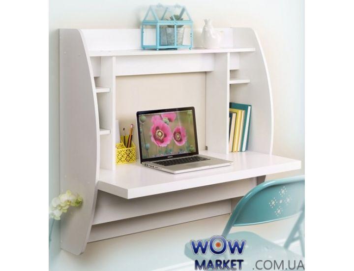 Навесной компьютерный стол ZEUS (Зевс) AirTable-I WT (белый)