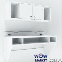 Навесной компьютерный стол ZEUS AirTable-II  Kit WT (белый)