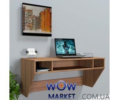 Навесной компьютерный стол ZEUS (Зевс) AirTable-II Mini LB (орех) Escado (Эскадо)