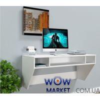 Навесной компьютерный стол ZEUS (Зевс) AirTable-II Mini WT (белый) Escado (Эскадо)