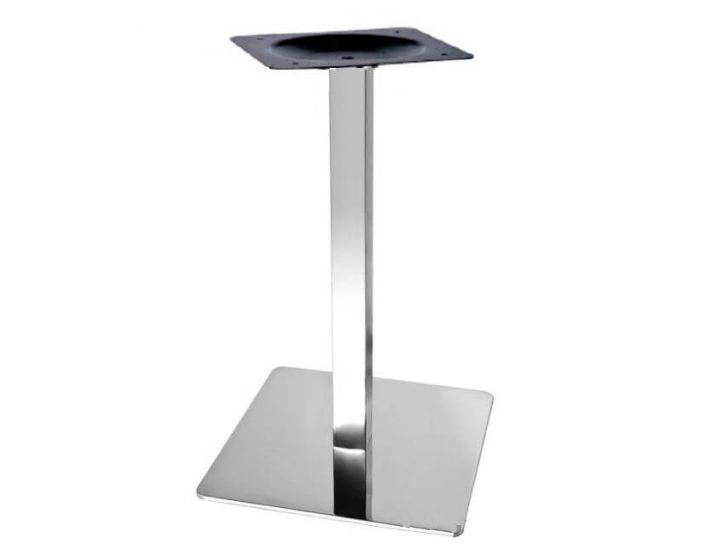 Опора для стола Кама, металл, нержавейка, высота 72 см, основание 50*50 см