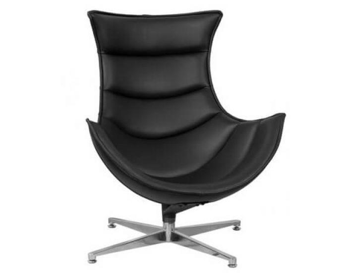 Кресло Ретро, экокожа, нержавеющая сталь, поворачивается, цвет черный SDM (Групо СДМ)