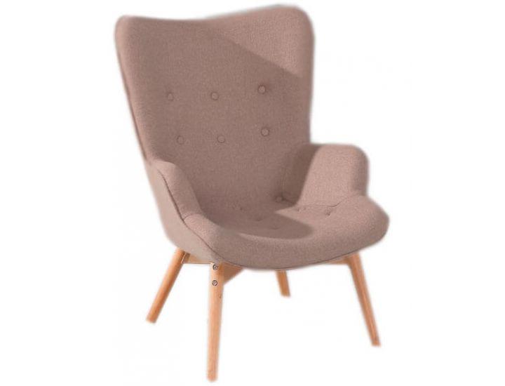 Дизайнерское кресло Флорино, мягкое, дерево бук, цвет коричневый