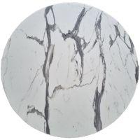 Столешница GSDM для стола WERZALIT круглая 80 см, белый мрамор