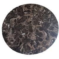 Столешница GSDM для стола WERZALIT круглая 80 см, черный мрамор