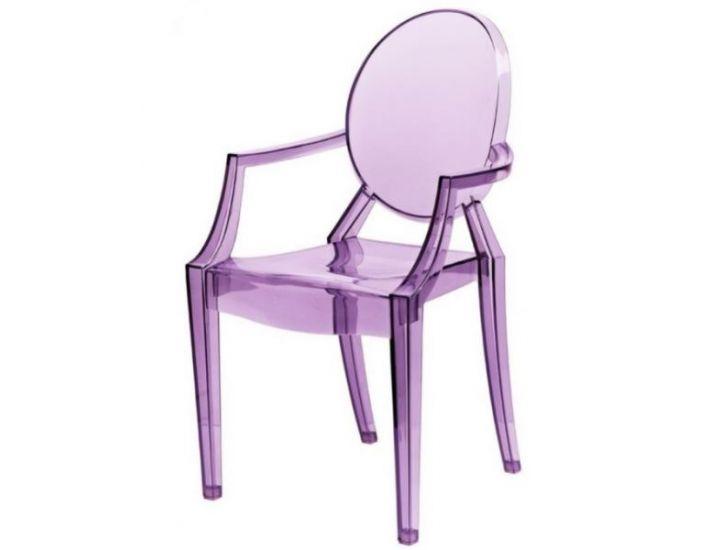Дизайнерский стул Louis Ghost (Луис Гост) фиолетовый
