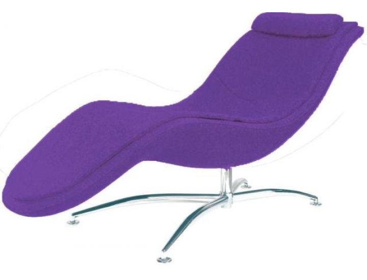 Дизайнерский лаунж шезлонг Rocking (Рокинг) фиолетовый