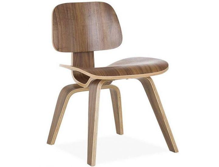 Стул деревянный Нордик (Eames LCW), гнутое фанера, цвет натуральный орех SDM
