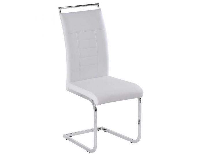 Дизайнерский мягкий стул Adam (Адам) белый