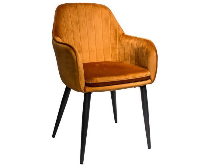 Дизайнерский мягкий стул Carolina (Каролина) медный велюр Impulse mebel