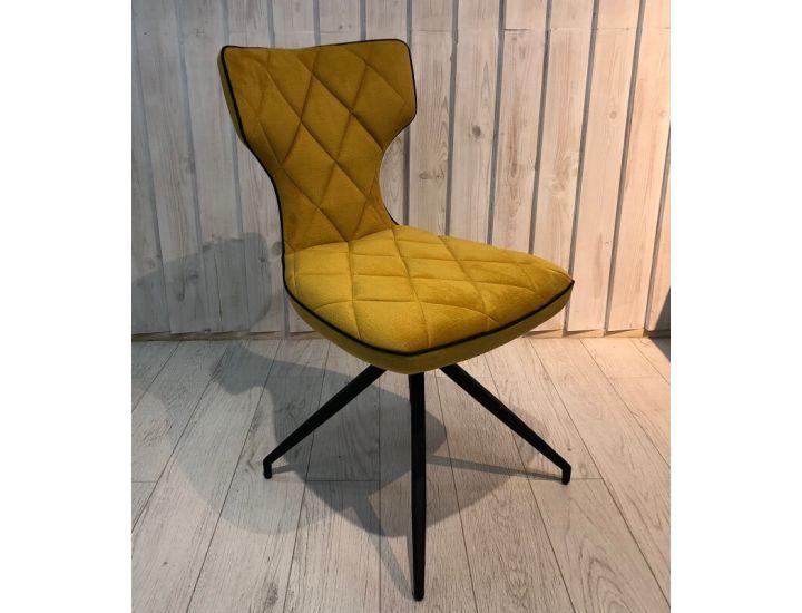 Дизайнерский мягкий стул Sirena (Сирена) желтый ткань Impulse mebel
