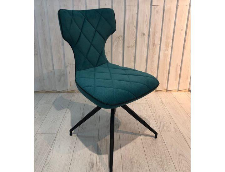 Дизайнерский мягкий стул Sirena (Сирена) синий ткань Impulse mebel