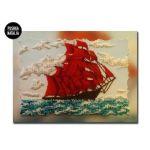 Картина вышитая бисером Алые паруса от Пушки Натальи
