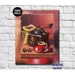 Картина вышитая бисером Кофейные истории от Пушки Натальи