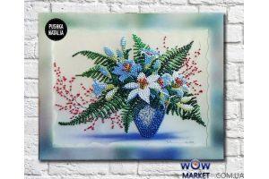 Картина вышитая бисером Весенний букет от Пушки Натальи