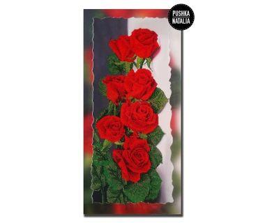 Картина вышитая бисером Розы от Пушки Натальи